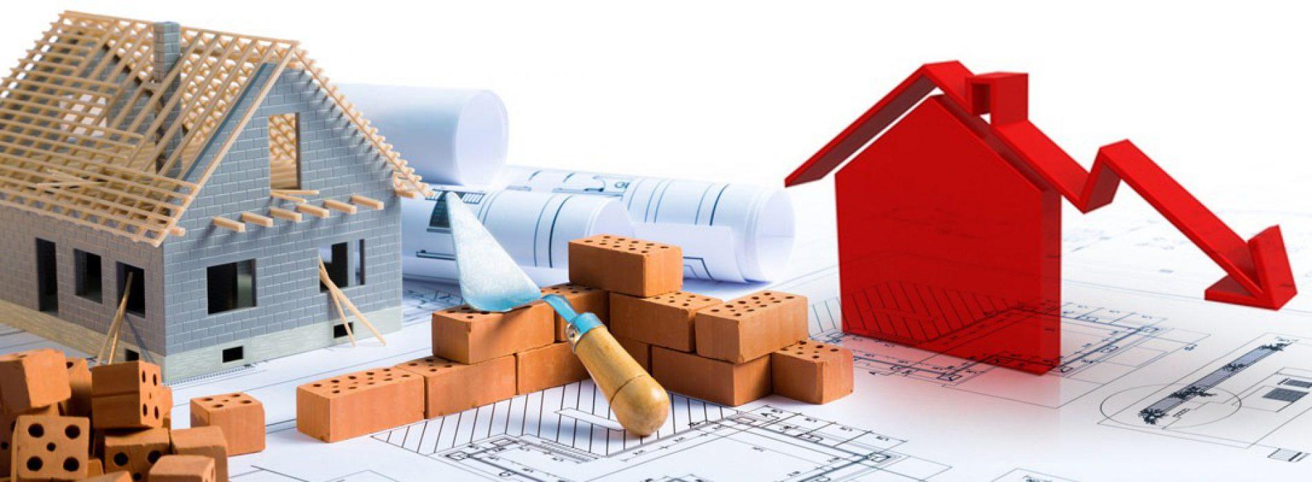 Calo nel settore costruzioni dopo l'estate