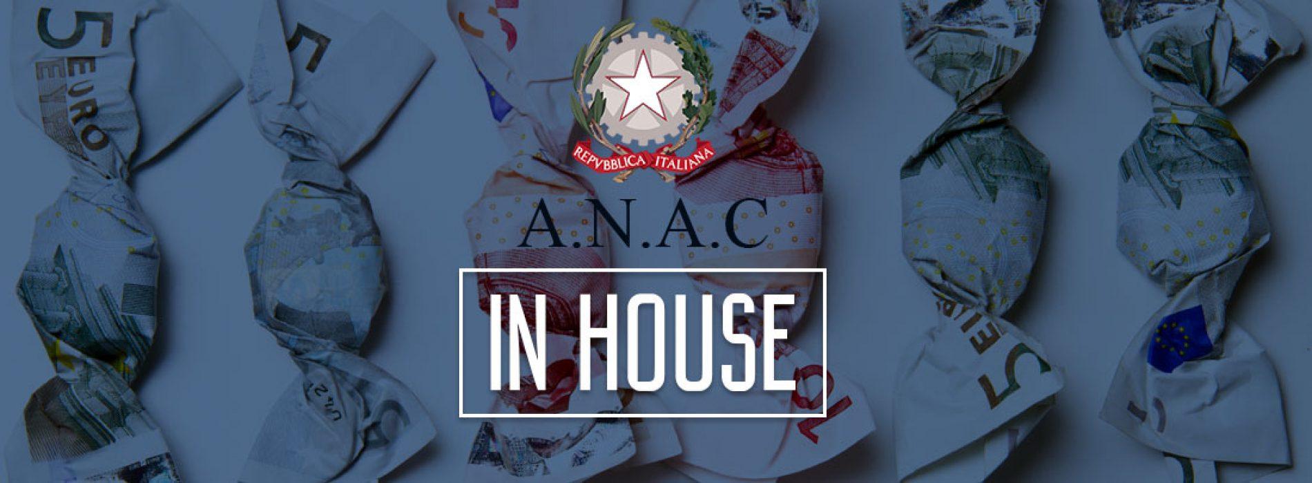 """Pubblica amministrazione: Istruzioni Anac per affidamenti """"in house"""""""