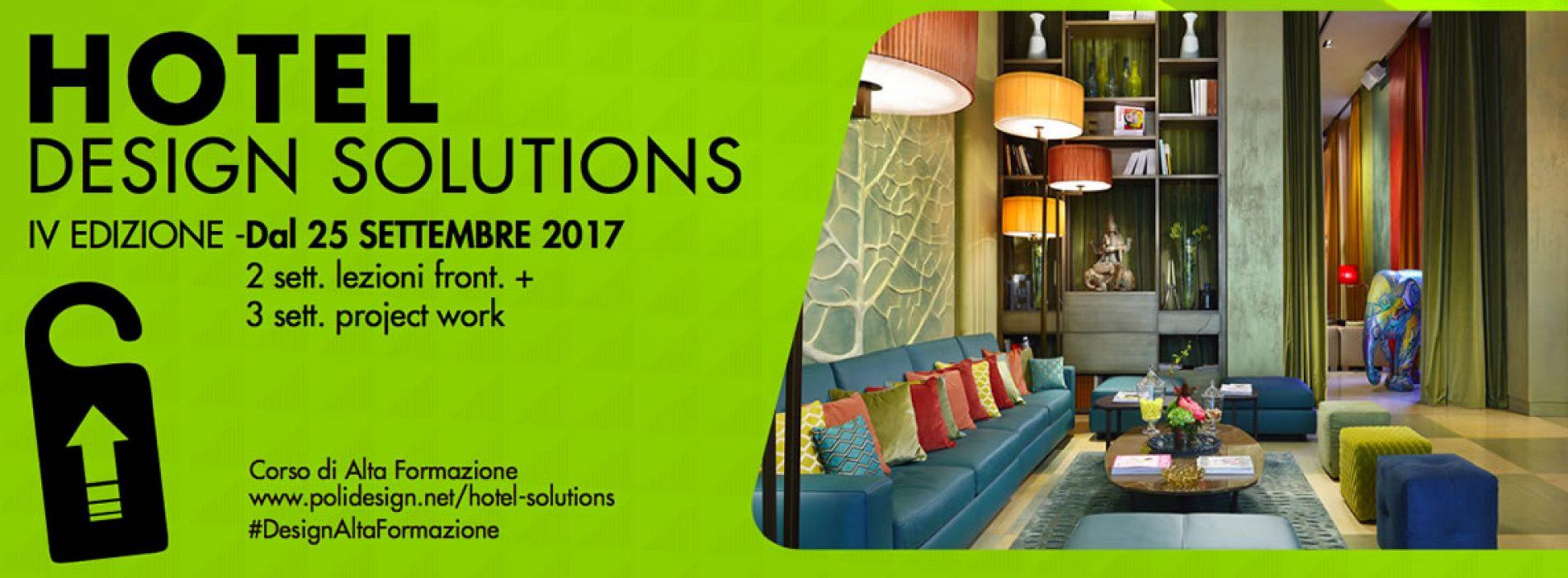 Parte a settembre il corso di Alta Formazione Hotel Design Solution